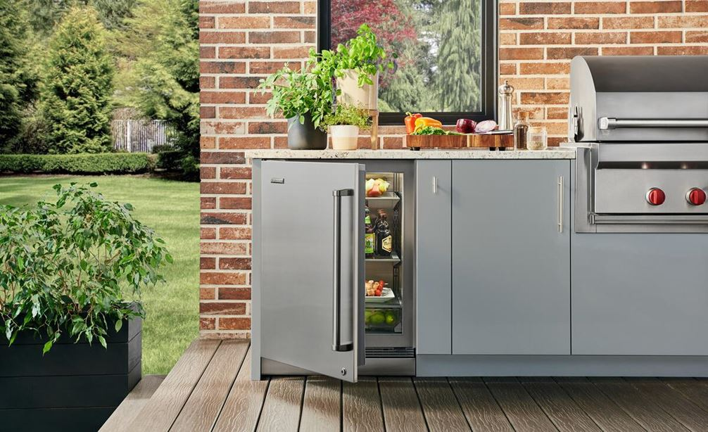 Sub-Zero Overlay Under Countertop Refrigerator