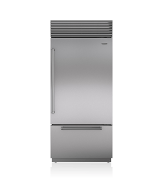 "Sub-Zero 36"" Built-In Over-and-Under Refrigerator/Freezer with Internal Dispenser BI-36UID/S"