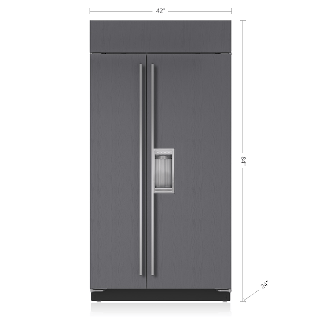 42 Built In Side By Refrigerator Freezer With Dispenser Panel Ready Bi 42sd O Sub Zero Liances