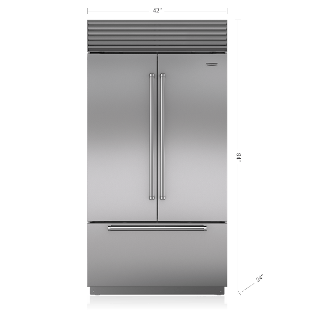 42 Built In French Door Refrigerator Freezer Bi 42ufd S Sub Zero Liances