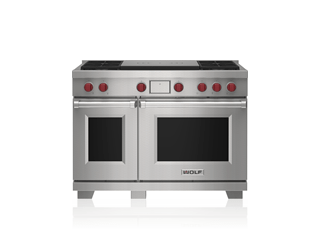"Wolf 48"" Dual Fuel Range - 4 Burners and French Top DF48450F/S/P"