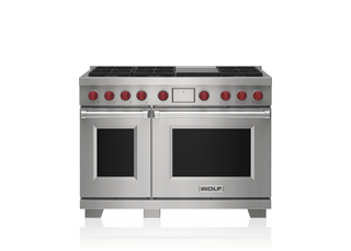 "Wolf 48"" Dual Fuel Range - 6 Burners and Infrared Griddle DF48650G/S/P"