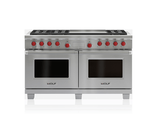 "Wolf Legacy Model - 60"" Dual Fuel Range - 6 Burners and Infrared Dual Griddle DF606DG"