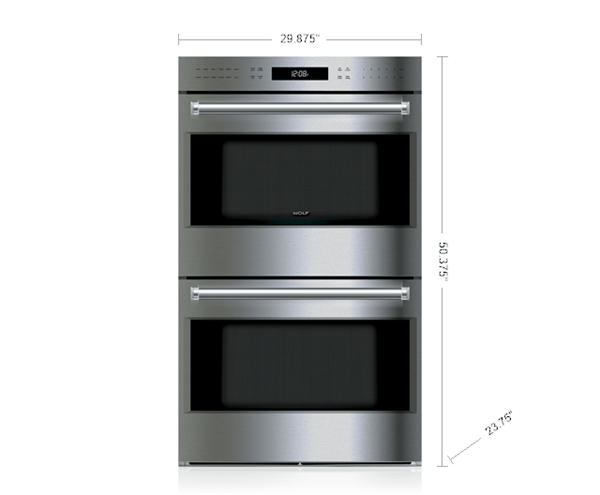 30 e series professional built in double oven do30pe s ph wolf appliances. Black Bedroom Furniture Sets. Home Design Ideas