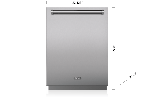 24 Dishwasher With Water Softener Panel Ready Dw2450ws Cove Liances