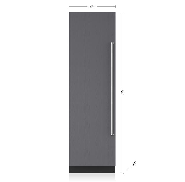 Designer Column Freezer With Ice Maker