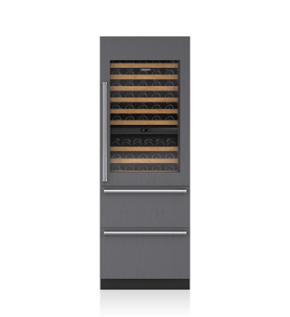 30 Integrated Wine Storage With Refrigerator Drawers Panel Ready