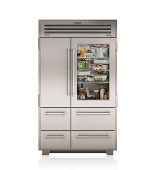"Sub-Zero 48"" PRO Refrigerator/Freezer with Glass Door PRO4850G"