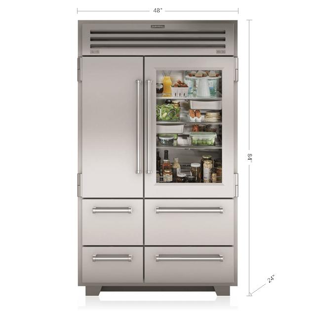 Sub Zero 48 Pro Refrigerator Freezer