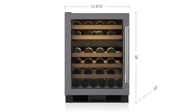 24 Undercounter Wine Storage Panel Ready Uw O Sub Zero Liances