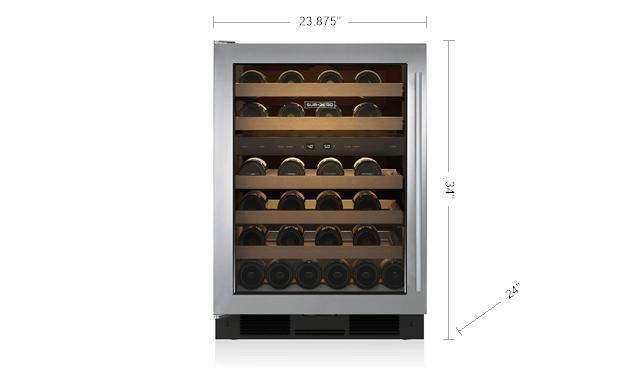 Sub Zero 24 Undercounter Wine Storage Uw 24 S