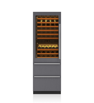 "Sub-Zero 27"" Integrated Wine Storage with Refrigerator Drawers - Panel Ready 427RG"
