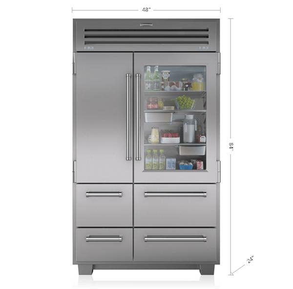Sub Zero Appliances >> PRO 48 with Glass Door | 648PROG | Sub-Zero Appliances