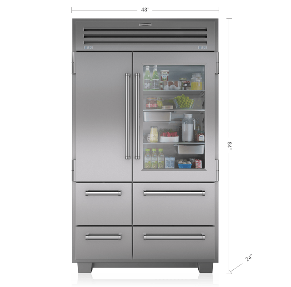 Pro 48 full size refrigeration sub zero refrigerators pro 48 with glass door planetlyrics Image collections