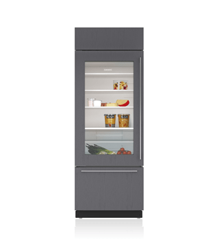 "Sub-Zero 30"" Classic Over-and-Under Refrigerator/Freezer with Glass Door - Panel Ready BI-30UG/O"