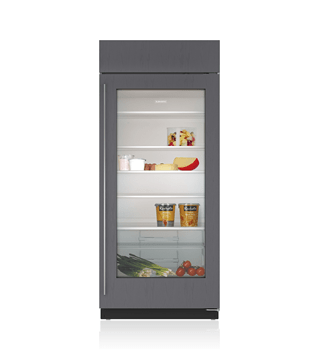 customize this model 36 built in glass door refrigerator - Refridgerator Glass Door