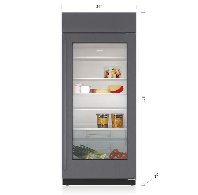 Sub zero 36 classic refrigerator with glass door panel - Glass door refrigerator for home ...