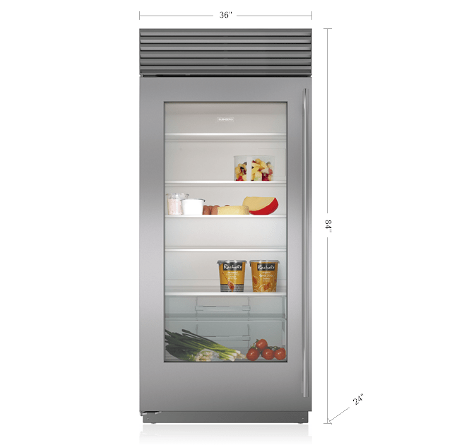 Sub Zero 36 Quot Classic Refrigerator With Glass Door Bi 36rg S