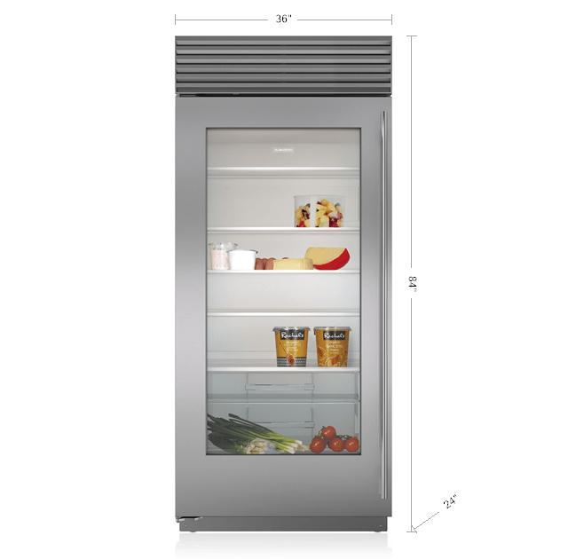 36\  Built-In Glass Door Refrigerator  sc 1 st  Subzero-Wolf & Sub-Zero Built-In Refrigerators | Stainless Steel \u0026 Custom Panels