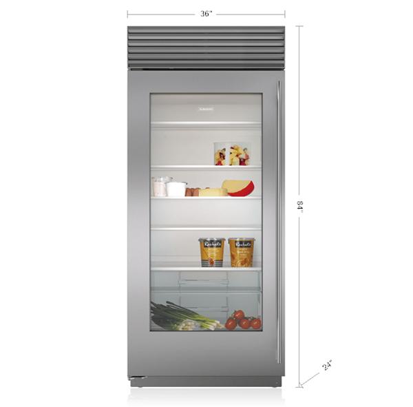 36 Built In Glass Door Refrigerator Panel Ready Bi 36rgo Sub