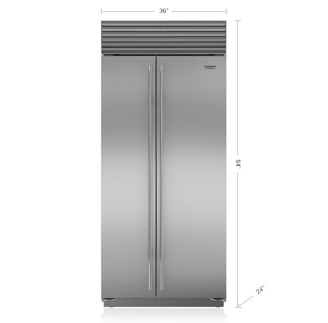 Sub Zero 36 Quot Classic Side By Side Refrigerator Freezer Bi