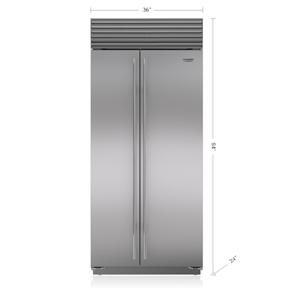 36 built in side by side refrigerator freezer bi 36s s. Black Bedroom Furniture Sets. Home Design Ideas