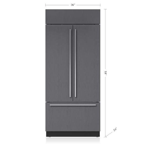 36 Built In French Door Refrigeratorfreezer Panel Ready Bi