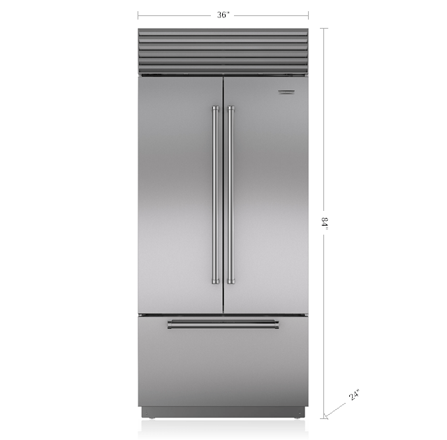 36 Built In French Door Refrigeratorfreezer Bi 36ufds Sub