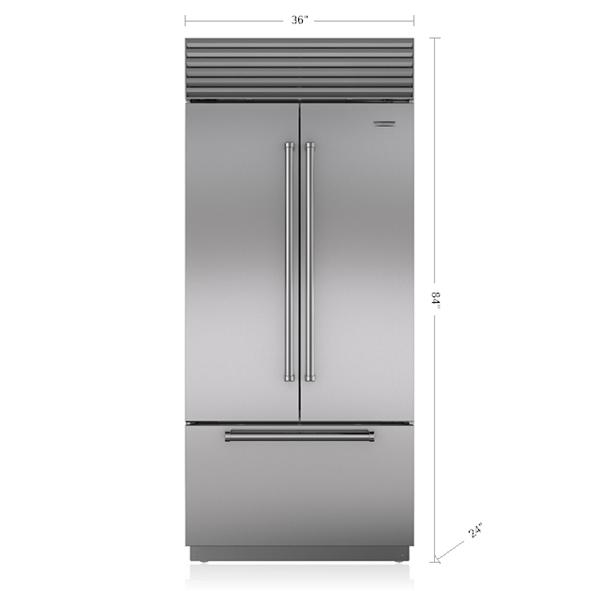 36 Quot Built In French Door Refrigerator Freezer With