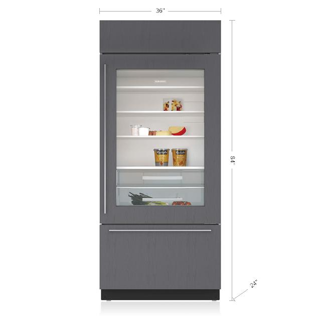 Sub Zero 36 Quot Classic Over And Under Refrigerator Freezer