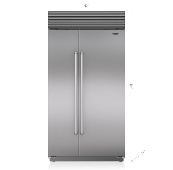 42 Quot Built In Side By Side Refrigerator Freezer Bi 42s S