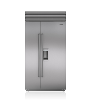 "Sub-Zero 42"" Built-In Side-by-Side Refrigerator/Freezer with Dispenser BI-42SD/S"