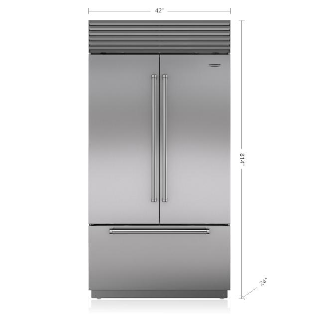 Sub Zero 42 Quot Classic French Door Refrigerator Freezer Bi