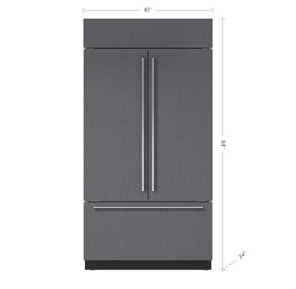 42 Built In French Door Refrigeratorfreezer Panel Ready Bi