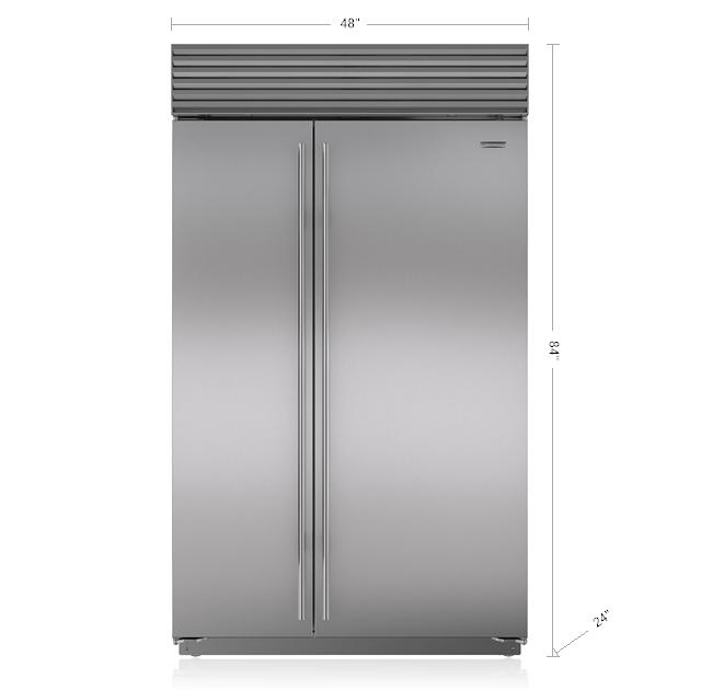 48 built in side by side refrigerator freezer bi 48s s sub zero rh subzero wolf com Miele Grand Froid 4-Door Refrigerator Sharp Refrigerator