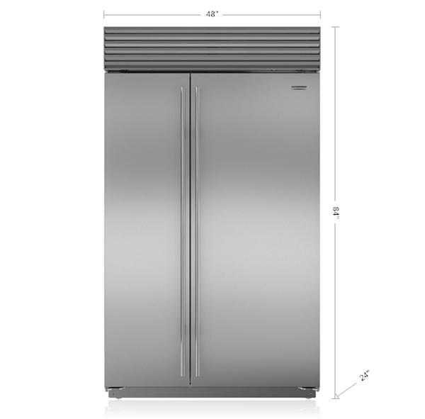 48 Quot Built In Side By Side Refrigerator Freezer Bi 48s S