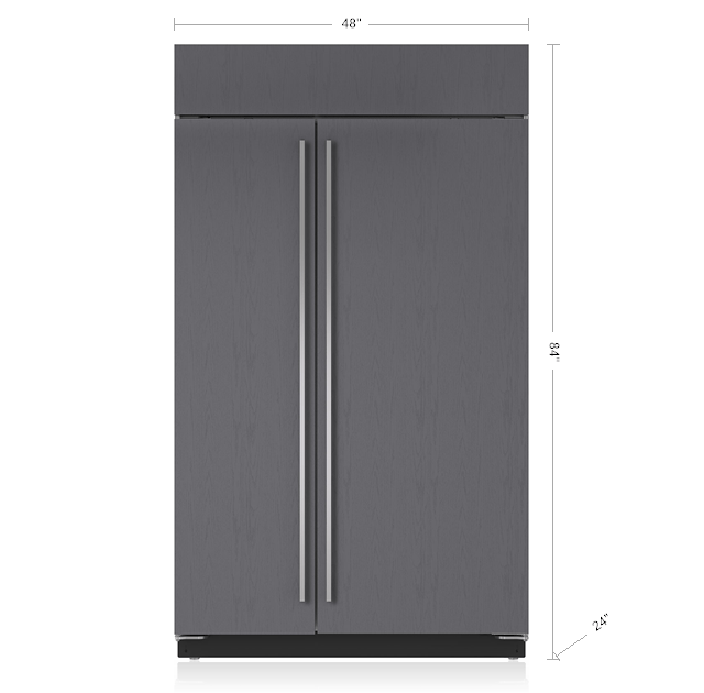 48 Built In Side By Refrigerator Freezer With Internal Dispenser Panel Ready Bi 48sid O Sub Zero Liances