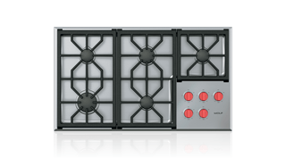 36 Professional Gas Cooktop 5 Burners