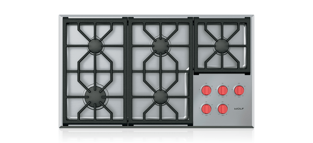Professional Gas Cooktop 5 Burners