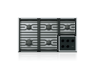 36 Transitional Gas Cooktop 5 Burners