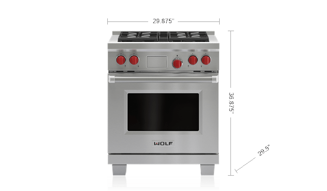 30 dual fuel range 4 burners df304 wolf appliances rh subzero wolf com Wolf Gas Stoves Wolf Stoves Residential