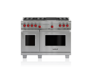 "Wolf Legacy Model - 48"" Dual Fuel Range - 6 Burners and Infrared Charbroiler DF486C"