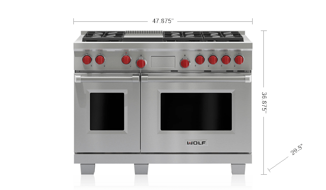 48 Dual Fuel Range 6 Burners And Infrared Griddle