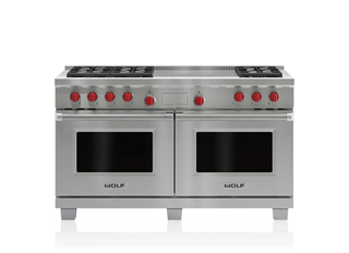 "Wolf Legacy Model - 60"" Dual Fuel Range - 6 Burners and French Top DF606F"