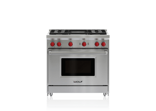 "Wolf 36"" Gas Range - 4 Burners and Infrared Charbroiler GR364C"