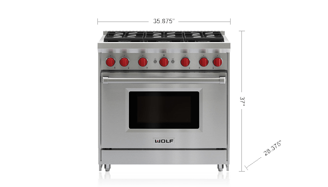 36 Gas Range 6 Burners