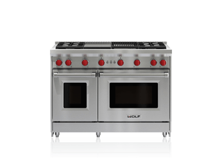 48 gas range 6 burners and infrared charbroiler - Cocinas wolf ...