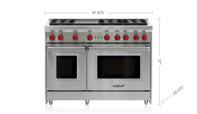 48 Gas Range 6 Burners And Infrared