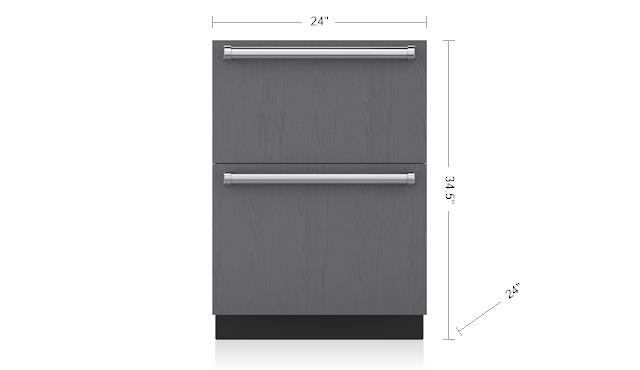 24 freezer drawers panel ready id 24f sub zero appliances rh subzero wolf com Sub-Zero 650 S Compressor Location Sub-Zero Replacement Parts