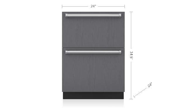 24 Designer Refrigerator Drawers Panel Ready